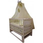 Акция!!! Акция!  Лучшая кроватка маятник Малыш ваниль,  матрас кокос,  постельный набор 8 эл. Отличное качество.