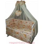 Акция! Постельное бельё в детскую кроватку Baby пчелки персик беж 8 эл. В подарок - подвеска сердечко