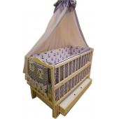 """Акция!!! Акция! Комплект: """"Малыш с ящиком ваниль"""".  Кровать """"Малыш ваниль"""" ящик  матрас кокос   постельный набор 8 эл."""