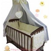 """Акция! Постельное бельё в детскую кроватку """"Элит"""" Baby жакард цветочки 10 эл."""