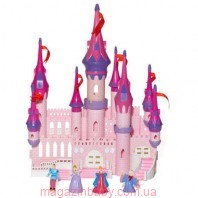 Замок332/HYL332-1 муз.свет.с куклами, мебелью
