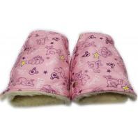 "Рукавицы на коляску (санки) розовый мишки ""ТМ ""Baby"""