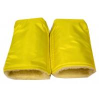 "Рукавицы на коляску (санки) желтые ""Оксфорд"" ТМ ""Baby"""
