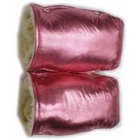 "Рукавицы на коляску (санки) розовый бронза ""Фо кидс"" ТМ ""Baby"""