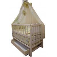 Акция!!! Детская кроватка маятник Малыш + ящик. Цвет ваниль. Отличное качество.