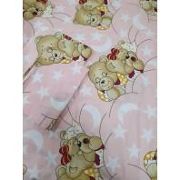 """Акция! Набор в детскую кроватку """"Мишки спят"""" розовое 3 эл."""