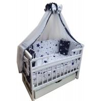 Балдахин на детскую кроватку.  Белый кометы
