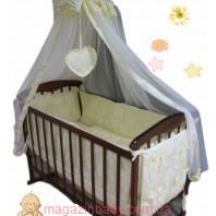 """Постельное бельё в детскую кроватку """"Элит"""" Baby жакард цветочки 10 эл."""