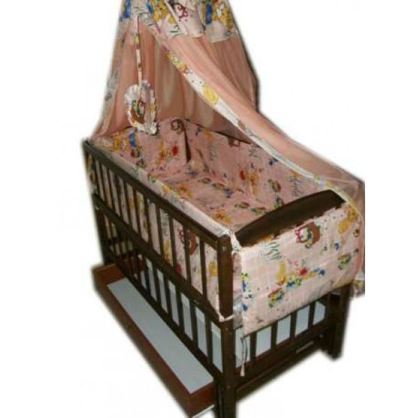 """Акция! Комплект """"Малыш с комодом"""" : Комод+ кроватка маятник+ матрас кокос + постельный набор"""