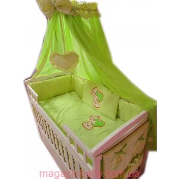 """Акция! Комплект """"Лодочка с комодом"""" : Комод 3+2 венге светлый, кроватка маятник лодочка ваниль, матрас кокос, постельный набор"""