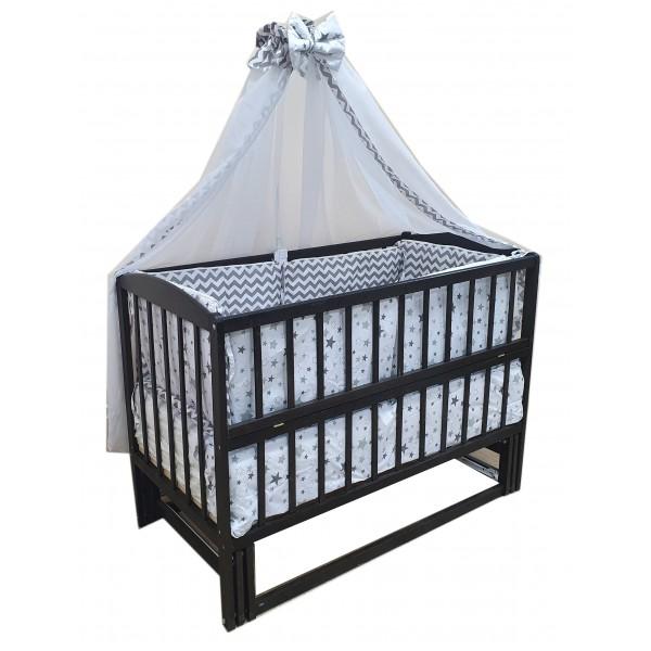 """Акция! Комплект """"Малыш с комодом венге темный"""" : Комод 3+2 т+с, кроватка маятник венге, матрас кокос, постельный набор"""