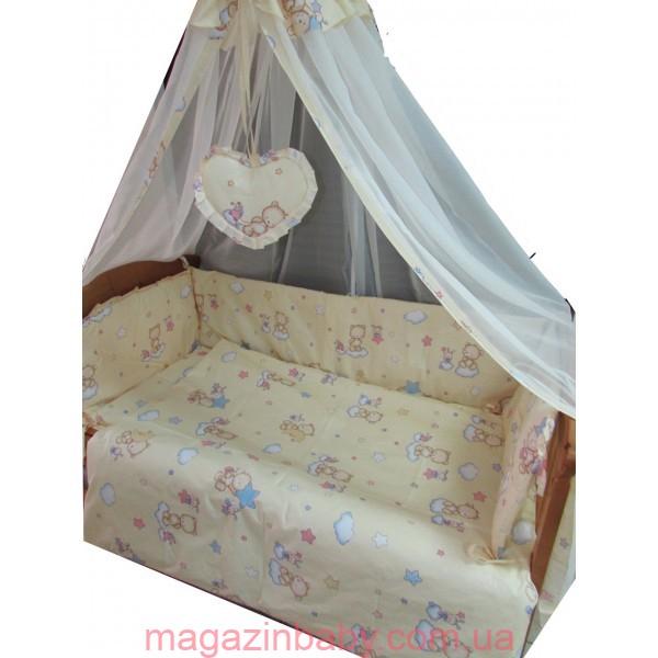 Набор в детскую кроватку Мишки маленькие беж 8 эл.