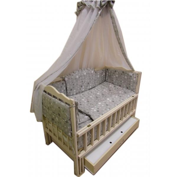 """Акция!!! Комплект: """"Малыш с ящиком ваниль"""".  Кровать """"Малыш ваниль""""+ящик+ матрас кокос + постельный набор 8 эл."""
