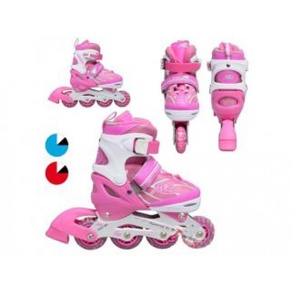 Раздвижные роликовые коньки Profi Roller розовые 31-34 р.